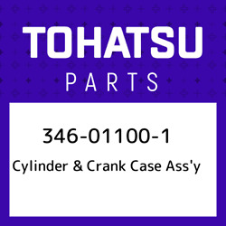 346-01100-1 Tohatsu Cylinder And Crank Case Assand039y 346011001, New Genuine Oem