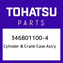 346b01100-4 Tohatsu Cylinder And Crank Case Assand039y 346b011004, New Genuine Oem