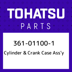 361-01100-1 Tohatsu Cylinder And Crank Case Assand039y 361011001, New Genuine Oem