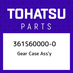 361s60000-0 Tohatsu Gear Case Assand039y 361s600000 New Genuine Oem Part