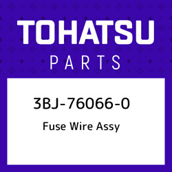 3bj-76066-0 Tohatsu Fuse Wire Assy 3bj760660 New Genuine Oem Part