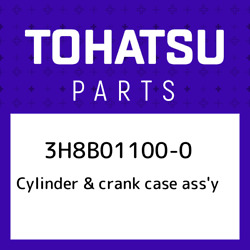 3h8b01100-0 Tohatsu Cylinder And Crank Case Assand039y 3h8b011000, New Genuine Oem