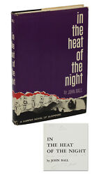 In the Heat of the Night by JOHN BALL ~ SIGNED First Edition 1965 ~ Civil Rights