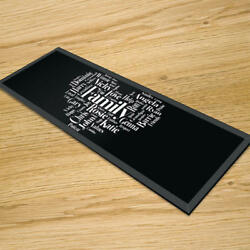 Premier Range Your Own Word Collage On A Glass Table Runner