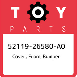 52119-26580-a0 Toyota Cover, Front Bumper 5211926580a0, New Genuine Oem Part