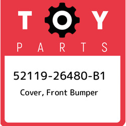 52119-26480-b1 Toyota Cover, Front Bumper 5211926480b1, New Genuine Oem Part
