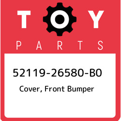 52119-26580-b0 Toyota Cover, Front Bumper 5211926580b0, New Genuine Oem Part
