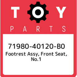 71980-40120-b0 Toyota Footrest Assy, Front Seat, No.1 7198040120b0, New Genuine
