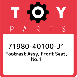 71980-40100-j1 Toyota Footrest Assy, Front Seat, No.1 7198040100j1, New Genuine