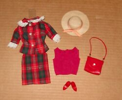 Japanese Exclusive Barbie Red Green And White Plaid Suit 2653