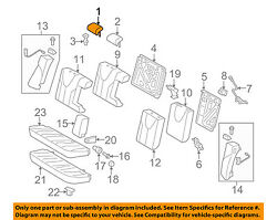 TOYOTA OEM 07-09 Camry Rear Seat-Headrest Head Rest, Outer 7194006320B2