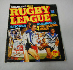 Ff.  Part Set112/208 1985 Scanlens Rugby League Stickers In Album