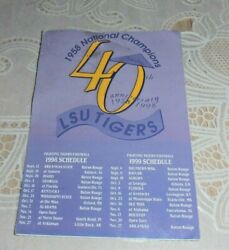 Vintage Rare 1998 1999 Lsu Tigers Football Schedule 1958 National Champions