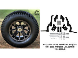 Club Car Ds Rhox 6 Spindle Lift Kit+ 12 Wheels And 23 Turf Tires Combo