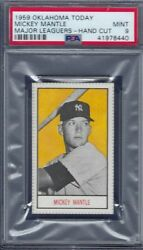 1959 OKLAHOMA TODAY MICKEY MANTLE PSA 9 MINT HIGHEST GRADED