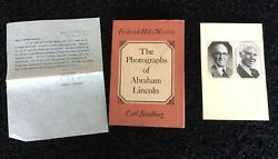 The Photographs Of Abraham Lincoln Signed Frederick Hill Meserve And Carl Sandburg
