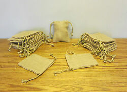 100 Burlap Jute Sacks With Drawstrings 5 By 6 Wedding Party Favor Gift Bags