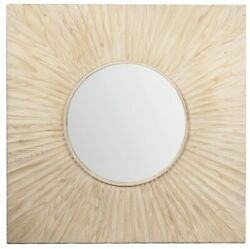 47 W Espedito Mirror One Of A Kind Square Pine Frame Flat Polished Round Mirror