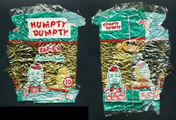 1960s HUMPTY DUMPTY B-B-Q Potato Chips Bag Old Vtg Cello Canada Rare Toronto