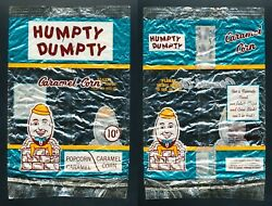 1960's Humpty Dumpty Canada Empty Potato Chip Bag Vtg Caramel Corn Rare Toronto