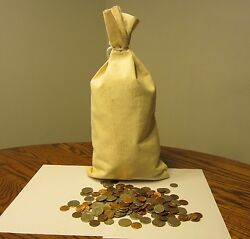 50 New Duck Canvas Coin Bags Money Change Sack Bag 9 By 17.5 Bank Deposit