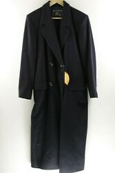 VINTAGE Mens Womens BURBERRY Over Coat CASHMERE LAMBSWOOL 42 Small 90's UP1RL