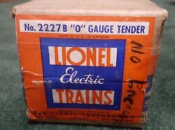 1940s Lionel 2227B switcher tender  box only sealed label
