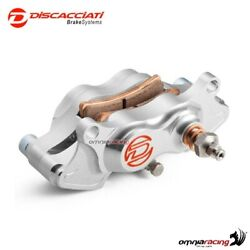 Rear brake caliper kit with bracket Discacciati silver color for Yamaha MT01