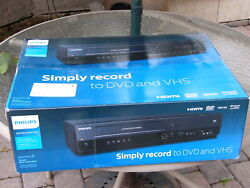 New Philips Dvdr3385v/f7 Tunerless Dvd Recorder Player Vcr Combo 1080p Hdmi Out