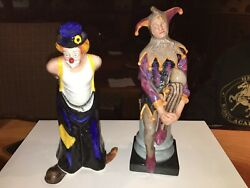 Royal Doulton Figurines - Hn3293 Tip-toe And Hn2016 Jester Excellent Condition.