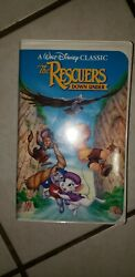 The Rescuers And Down Under Vhs Vintage Black Diamond Editions Walt Disney 1 And 2