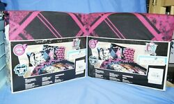 2 sets New Monster High #x27;Scary Cute#x27; 3 Piece Twin Bedding Sheet Set free ship