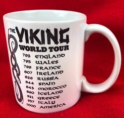 VIKING Coffee Mug - The Viking World Tour England Wales France Ireland Russia
