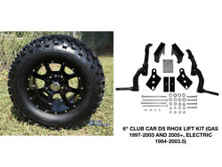 Club Car Ds Rhox 6 Spindle Lift Kit+ 12 Wheels And 23 At Tires