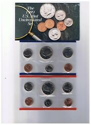 1989 United States Us Mint 12 Pc Uncirculated Coin Set