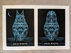 Jack White San Francisco 2014 Matching # AP SET Poster Slater Rob Jones Stripes