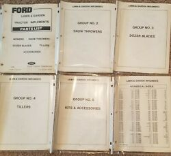Ford Dealer Lawn And Garden Tractor Implements Parts List Manuals Pa-4058-l
