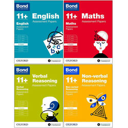 Bond 11+ English Mathsverbal Non-verbal 8-9 Years 4 Books Collection Set New
