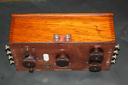 Large Brass And Mahogany Potentiometer By H Tinsley And Co London Type 3387b