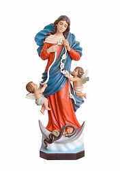 Statue Madonna That Melts The Knots Cm.100 Resin Our Lady Dissolving Hitch 24