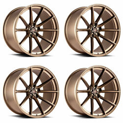 22 Savini Sv-f4 Bronze Forged Concave Wheels Rims Fits Cadillac Cts V Coupe