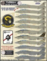Furball Aero-design 1/48 And039usn Tomcats Colors And Markings Part Iand039 S4808