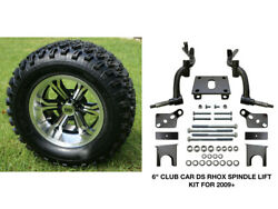Club Car Ds Rhox 6 Spindle Lift Kit 2009+ + 12 Wheels And 23 At Tires Combo