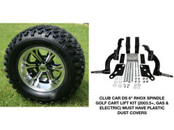 Club Car Ds Rhox 6 Spindle Lift Kit 2003.5+ + 12 Wheels And 23 At Tires Combo