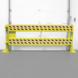 US Netting Defender Gate 20 Loading Dock Steel Safety Gate with Security Guards