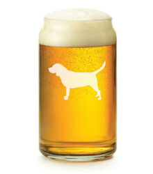 16 oz Beer Can Glass Beagle