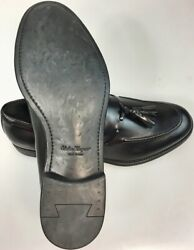 SALVATORE FERRAGAMO SHOES BLACK BRUSH CALF TASSEL VAMP SASHA LOAFER 10.5 EE NEW
