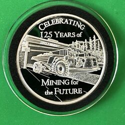 Hecla Mining Co. Celebrate 125 Years 1 Troy Oz .999 Fine Silver Round Proof Coin
