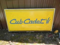 2 Double Sided, Lighted Cub Cadet Sign And International Harvester Sign