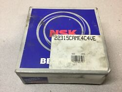 New Nsk 22315came4c4ve Spherical Roller Bearing - 75 Mm Id, 160 Mm Od, 55 Mm W